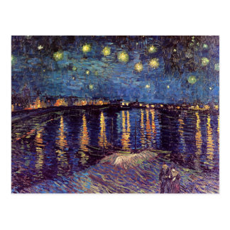 Vincent van Gogh - noche estrellada en Rhone Postales