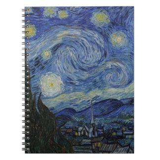 Vincent van Gogh - noche estrellada Libretas Espirales