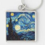 Vincent van Gogh - noche estrellada Llavero