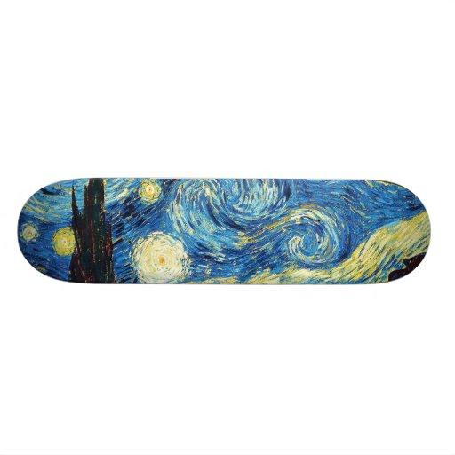 """Vincent van Gogh - noche estrellada Patineta 7 3/8"""""""