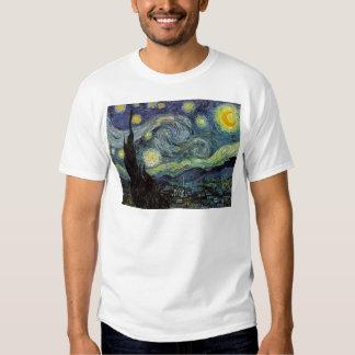 Vincent van Gogh - noche estrellada Playeras