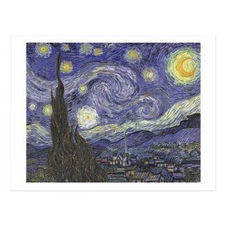 Vincent van Gogh - noche estrellada - postal