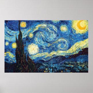 Vincent van Gogh - noche estrellada Póster