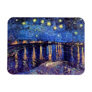 Vincent van Gogh - noche estrellada sobre el Rhone Imanes Flexibles