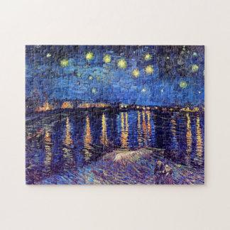 Vincent van Gogh - noche estrellada sobre el Rhone Puzzle