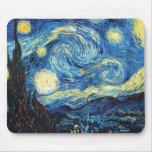 Vincent van Gogh - noche estrellada Alfombrillas De Raton