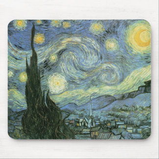 Vincent van Gogh - noche estrellada Alfombrilla De Ratón