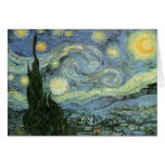 Vincent van Gogh - noche estrellada Tarjeta De Felicitación