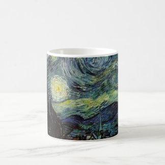 Vincent van Gogh - noche estrellada Taza Básica Blanca