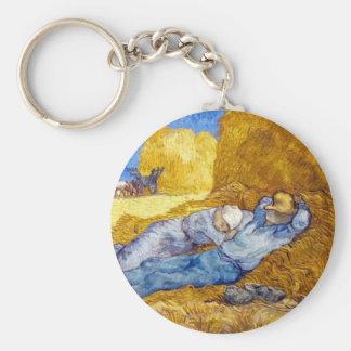 Vincent Van Gogh - Noon Rest From Work - Fine Art Keychain