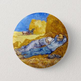 Vincent Van Gogh - Noon Rest From Work - Fine Art Pinback Button