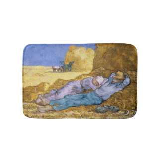 Vincent van Gogh | Noon, The Siesta, after Millet Bathroom Mat
