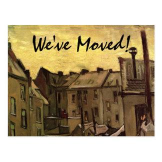 Vincent Van Gogh Old Houses, Change of Address Postcard