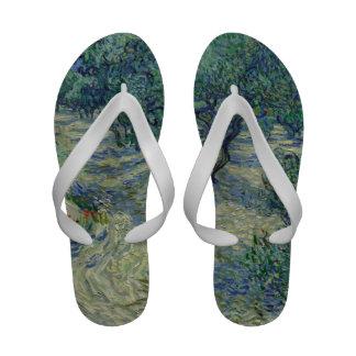 Vincent van Gogh - Olive Orchard Flip-Flops