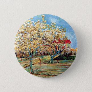 Vincent Van Gogh - Orchard In Blossom Fine Art Button