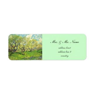 Vincent van Gogh,Orchard in Blossom Custom Return Address Label