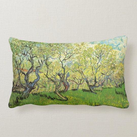 Vincent van Gogh,Orchard in Blossom Lumbar Pillow