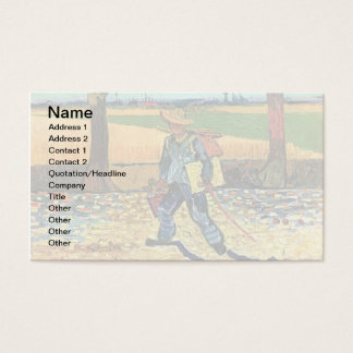 Vincent Van Gogh - Painter On His Way To Work Business Card