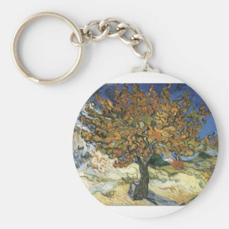 Vincent Van Gogh Painting: Van Gogh Mulberry Tree Basic Round Button Keychain