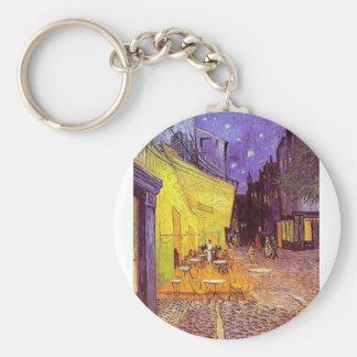 Vincent Van Gogh Paintings: Van Gogh Cafe Basic Round Button Keychain