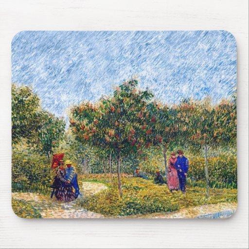 Vincent van Gogh - pares que cortejan en el parque Tapete De Ratón