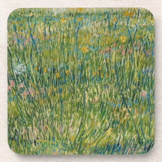 Vincent van Gogh, Patch of grass Colorful Coaster