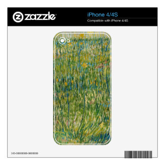 Vincent van Gogh - Patch of grass Skins For The iPhone 4