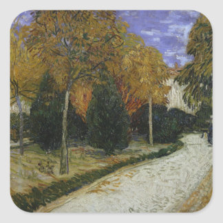 Vincent van Gogh   Path in the Park at Arles, 1888 Square Sticker