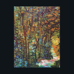 """Vincent Van Gogh - Path In The Woods Fine Art Canvas Print<br><div class=""""desc"""">Oil on canvas from 1887 shows an idylic, sunlit path through a beautiful autumn forest. Unlike similar stores, Art Lover&#39;s Cafe features classic, high resolution works of art that have been carefully restored, color-balanced &amp; retouched to remove spots &amp; artifacts commonly found in most reproductions sold online. Compare the quality...</div>"""