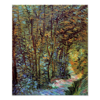 Vincent Van Gogh - Path In The Woods Fine Art Poster