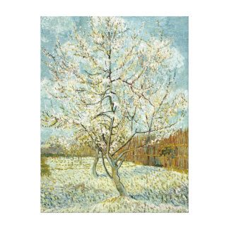 Vincent Van Gogh Peach Tree In Blossom Fine Art Canvas Print