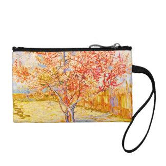Vincent Van Gogh Peach Tree in Blossom Vintage Art Change Purse
