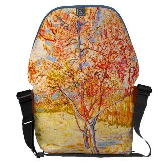 Vincent Van Gogh Peach Tree in Blossom Vintage Art Courier Bag