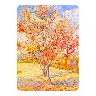 Vincent Van Gogh Peach Tree in Blossom Vintage Art 4.5x6.25 Paper Invitation Card