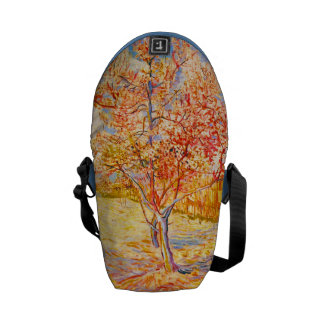 Vincent Van Gogh Peach Tree in Blossom Vintage Art Messenger Bag