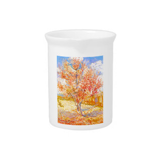 Vincent Van Gogh Peach Tree in Blossom Vintage Art Pitcher