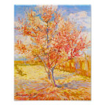 Vincent Van Gogh Peach Tree in Blossom Vintage Art Poster