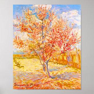 Vincent Van Gogh Peach Tree in Blossom Vintage Art Poster