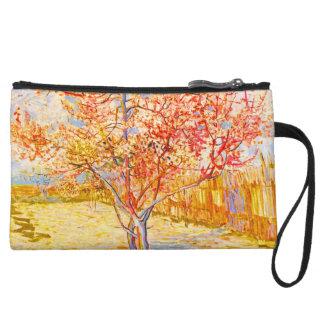 Vincent Van Gogh Peach Tree in Blossom Vintage Art Wristlet