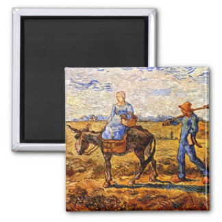 Vincent Van Gogh - Peasant Couple Going To Work Magnet