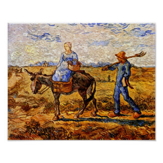 Vincent Van Gogh - Peasant Couple Going To Work Poster