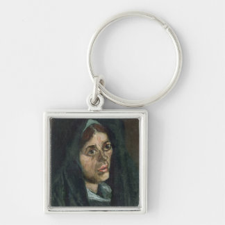 Vincent van Gogh | Peasant with moss green shawl Keychain