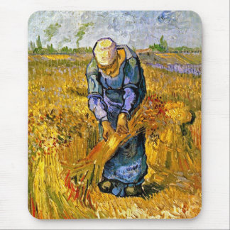 Vincent Van Gogh - Peasant Woman Binding Sheaves Mouse Pad