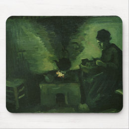 Vincent van Gogh | Peasant Woman by the Hearth Mouse Pad