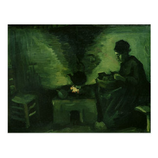 Vincent van Gogh | Peasant Woman by the Hearth Postcard