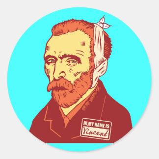 Vincent van Gogh Pegatina Redonda