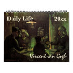 Vincent van Gogh People and Daily Life Fine Art Calendar