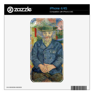 Vincent van Gogh | Pere Tanguy (Father Tanguy) Decals For The iPhone 4