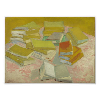 Vincent van Gogh - pilas de novelas francesas Cojinete