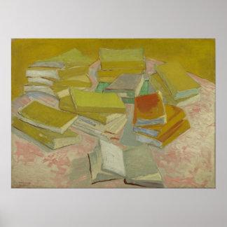 Vincent van Gogh - pilas de novelas francesas Póster